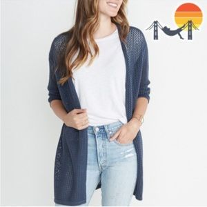 Marine Layer navy rent open front cardigan
